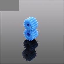 1PCS plastic motor shaft gear blue 15T 3.175mm 2.3MM R hole module 0.5 for DIY (China (Mainland))