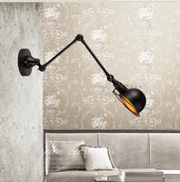 American style rh loft wall lamp mechanical head bedroom light bar vintage iron wall lamp free shipping