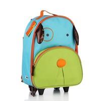 2014 New canvas Cartoon Cute Animal Children Pull Rod School Bags Kids Outdoor Recreation Backpack bag