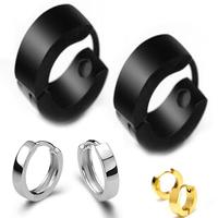 New fashion 316L steel earrings retro glossy black gothic punk jewelry earrings