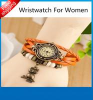 New fashion decoration retro watch quartz casual watch alloy women wristwatch bracelet free shipping