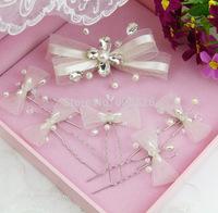 The bride handmade hair stick hairpin 6 piece set wedding dress hair accessory set marriage accessories