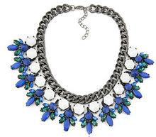 2014 fashion High quality ZA Luxury Brand Necklace vintage necklaces pendants choker Necklace statement jewelry women