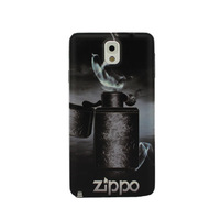Metal Lighter Zippo Pattern Battery Back Cover Replace Housing Door Case Skin For Samsung Galaxy Note 3 III N9000