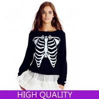 Autumn Winter Sweatshirts 2015 Women Clothes Long Sleeve Pullover Female Skeleton Printed Sweatshirts Hoodies Casual Tracksuit