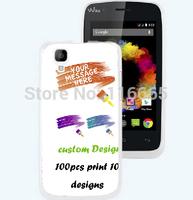custom design logo printing plastic pc cover hard case for wiko sunset Coque Etui Housse free dhl 100pcs mix 10