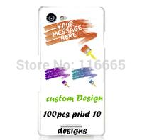 custom design logo printing plastic pc cover hard case for sony e3  Coque Etui Housse free dhl 100pcs mix 10