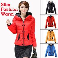 4XL Snow Wear Wadded Jacket Female 2014 Winter Hooded Design Short Cotton-padded Coat Jaquetas Feminino Casaco Inverno DP1008