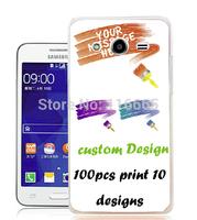 custom design logo printing plastic pc cover hard case for samsung galaxy core 2 g355 Coque Etui Housse free dhl 100pcs mix 10