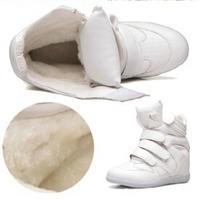 Winter Warm Plus Fur Women shoes Wedge Sneakers, Genuine Leather 15 Styles, Heel 6cm, Women's Boots, No Logo, Women Shoes Q252