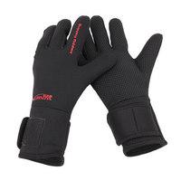 Tsurinoya Thickened  Waterproof Anti-Skid  Fishing Gloves L/XL Size Black Color