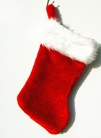 Free Shipping Red Christmas Stockings For Girl Women Merry Xmas Baubles Home Decorations gift for new year Party Decorations 606