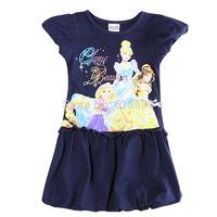 Best-selling Snow White Girls Dresses Blue Cartoon Girls' Princess Dress Cotton Beautiful girl's 2Y-6Y