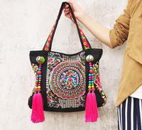 Free shipping Ethnic embroidery bags wholesale fashion personality Ethnic Chinese style shoulder bag big bag lady handbag 94026
