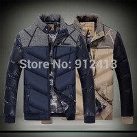 2014 hot sale warm men's urban fashion men padded jacket men's thicker winter parka down jackets