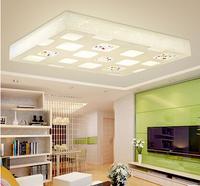 Crystal lamp ceiling light bedroom lights modern brief rustic led living room lamps heterochrosis rectangle lighting