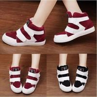 Free shippingWomens Platform Sneakers High Heels Suede High Top Hook Loop Running Shoes For Women Casual Ladies Shoes