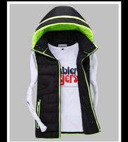 Fashion mens casual vest autumn winter mens waistcoat outdoor men's jackets