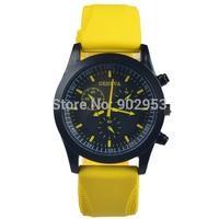 New Geneva Casual watch 2014 Christmas men women fashion dress wristwatches rubber strap sport watch