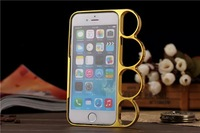 wholesale 5 colors bumper ring knuckle case for iPhone 6 4.7inch 300pcs/lot free shipping