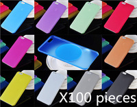100pieces high quality 0.3mm Ultra Thin Case for iPhone 6 Slim Matte Transparent Cover Case for Apple iphone 6G  iphone6 PP case