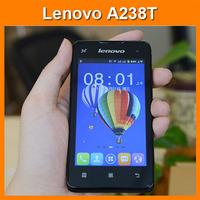 Original Lenovo A238T Quad Core Dual Sim 4.0 inch 800x480 android phone Dual camera Bluetooth Russian Language mobile phone