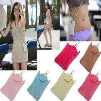Fashion Womens Mini Messenger Bag Candy Colors PU Leather Shoulder Bag Coin Case Satchel Crossbody Handbags Cell Phone Case