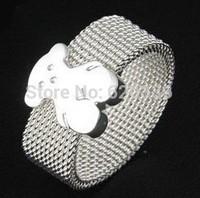 silver plated titanium steel bear rings