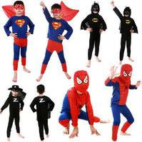 spiderman superman batman zorro black Spider-man children party cosplay costumes kid's Halloween christmas gift for boys