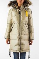 2014 Fashion Brand Long Bear Down Jacket Womens Parka Outerwear Sand Winter Hooded Real Fur Master Piece GOBI Denali Arctic 724