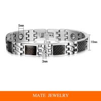Magnetic Titanium Stainless Steel Health Bracelet Bangle (MATE B176)