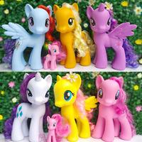 Anime Club 2014 new fashion horse 22cm 6pcs Twilight sparkle+Rainbow dash+Rarity+Fluttershy+apple jack Action Figure kid's toy