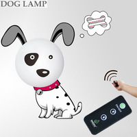 New Upgrade Version 3D DIY Removeable Wall Sticker+USB Rechargeable LED Night Lamp With Remote Controller for Home Decor