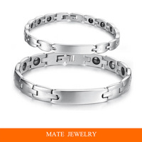 Classic 316L Titanium Steel Fashion Men/Women Magnetic Therapy Health Bracelet(MATE B212)