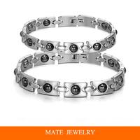 Fashion Titanium Steel Chain Men/Women Magnetic Therapy Health Bracelet Bangle(MATE B236)