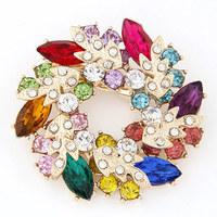 Personalized mix match clothing fashion sweet cuicanduomu gem fashion resin brooch all-match accounterment