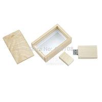 Best gift wooden box pen drive real capacity 2GB 4GB 8GB 16GB 32GB USB 2.0 Memory Stick Flash Drive usb stick pen key 10pcs/lot