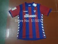 thailand quality aaa Sociedad Deportiva Eibar jersey home  red blue La Liga Men soccer jerseys Football 2014  2015