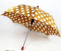 Free Shipping Round dot umbrella yellow --Magic Trick, Fun Magic, Party Magic.