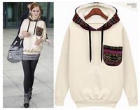 2014 autumn-summer brand fashion harajuku FAKE CC men round neck fleecepink sport sweatshirt hoodies women free shipping