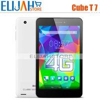 New Fashion Cube T7 MTK8752 Octa core 64Bit 2.0GHz WCDMA 7'' 1920*1200 Retina Screen 2MP+5MP 2G/16G 4G FDD LTE Phone Call tablet