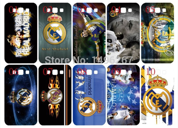 In stock hot selling new Real Madrid design skin hard back cover phone case for Samsung Galaxy S3 i9300+Free shipping(China (Mainland))
