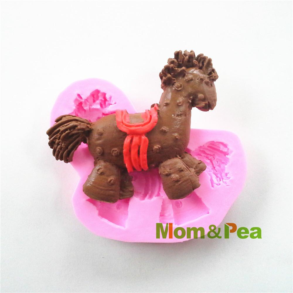 Mãe e Pea 0496 grátis frete em forma de cavalo molde sabão Silicone decoração do bolo Fondant bolo 3D Mold Food Grade molde de Silicone(China (Mainland))