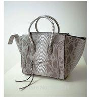 Crocodile Shaded Tote Shoulder Bag New Women Luxury Classic Designer Inspire Celebrity Leather Smile Face Smiley Handbag