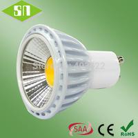 new design dimmable 230v 5w cob bulb gu10 led spotlight