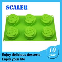 SCALER 2014 hot sale 6 ROSE MUFFIN PAN