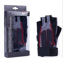 Free Shipping Gym Sports Riding Half Fingers Wrist-protective Training Anti-abration Glove(China (Mainland))