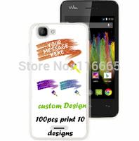 custom design logo printing plastic pc cover hard case for wiko kite Coque Etui Housse free dhl 100pcs mix 10