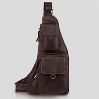 genuine leather chest pack for men messenger bags male shoulder bag cowhide