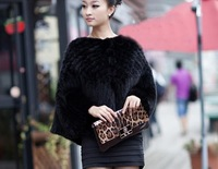 EMS/DHL free shipping luxury natural mink fur poncho shawl  women pullover coat  winter high quality   knitted  free size